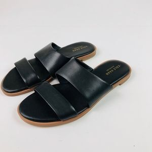 Cole Haan Shoes - Cole Haan Anica Black Leather Slide Sandals